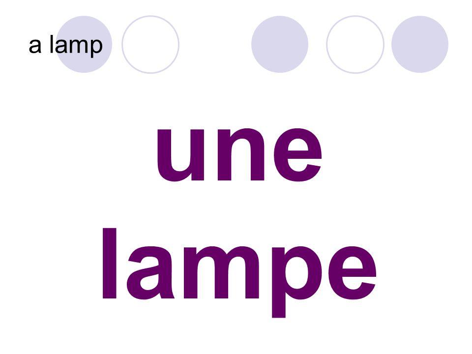 une lampe a lamp