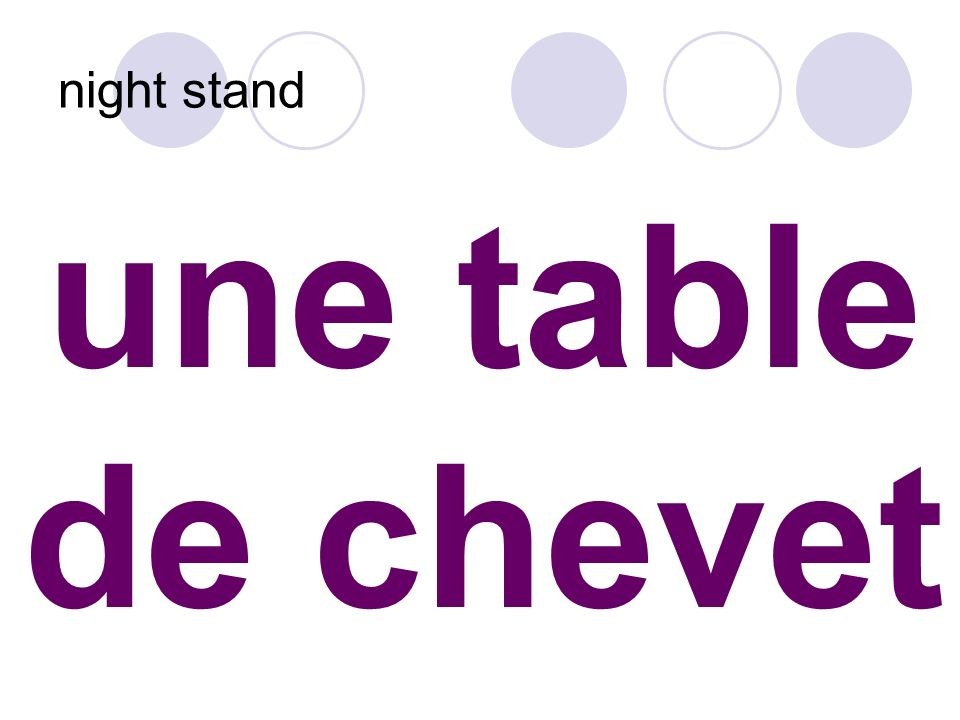 une table de chevet night stand