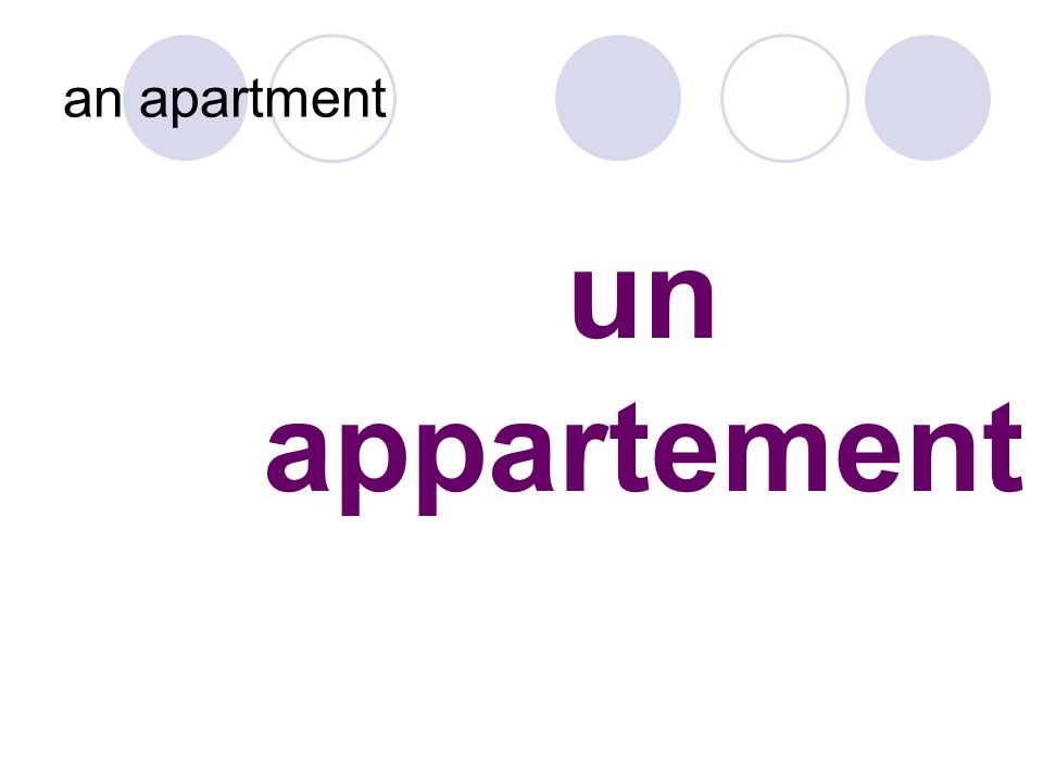 un appartement an apartment