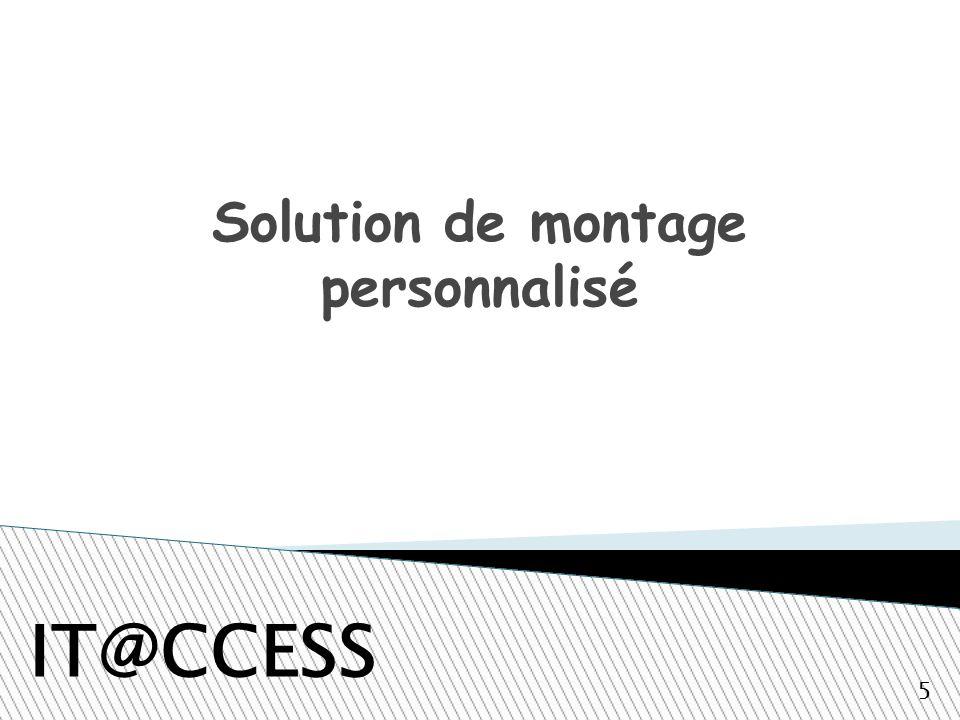 Solution de montage personnalisé IT@CCESS 5