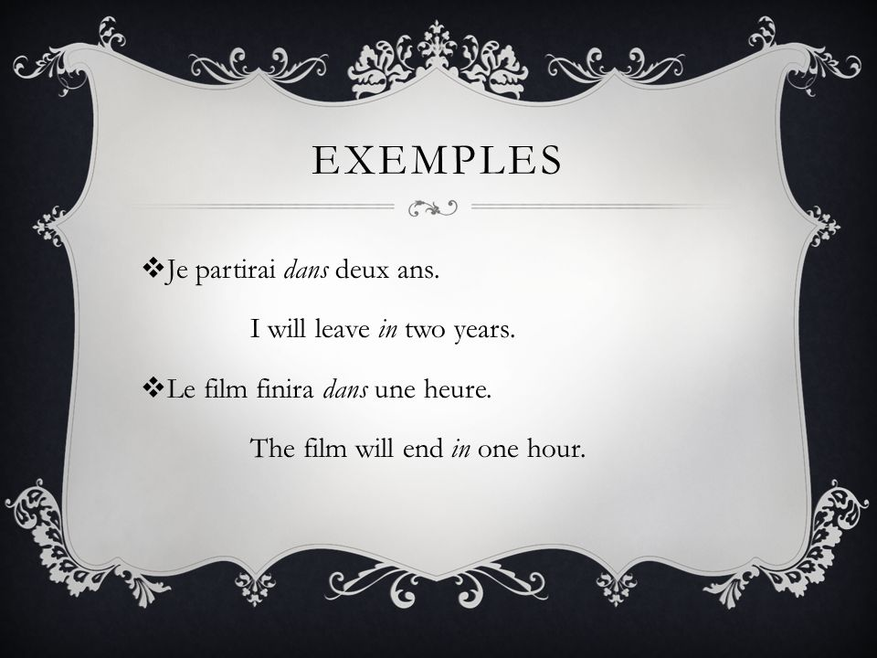 EN En means in. It is used to indicate the amount of time needed to complete an action.