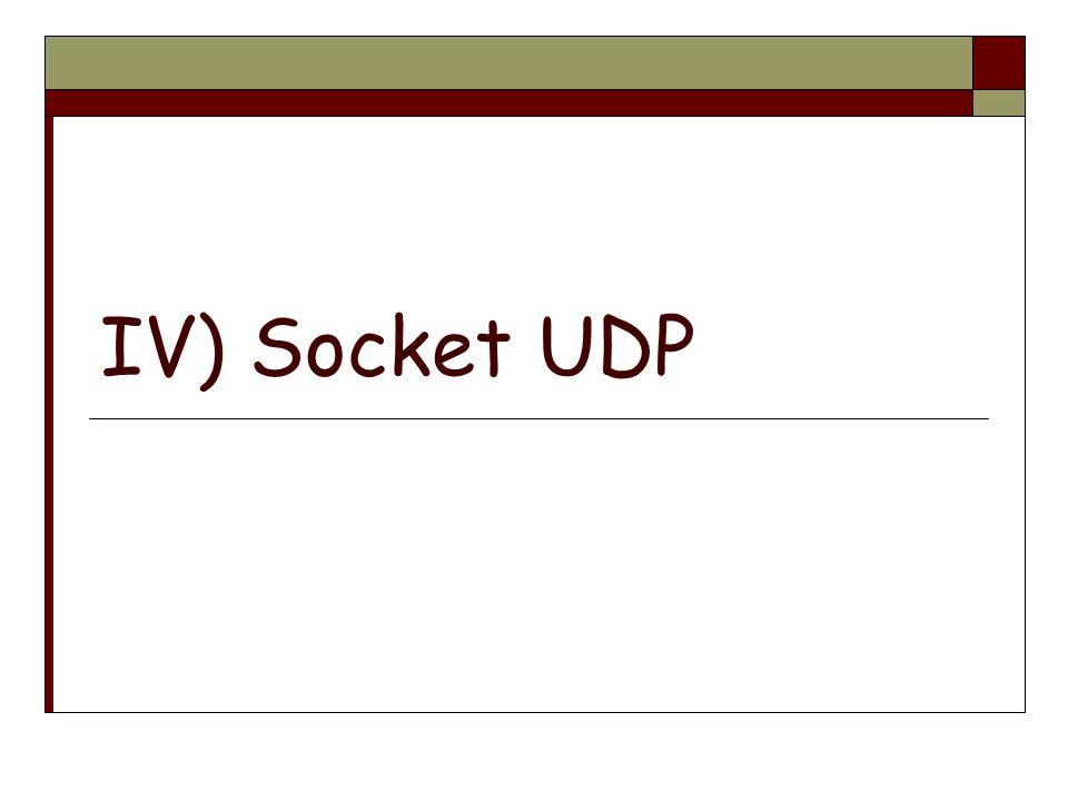 IV) Socket UDP