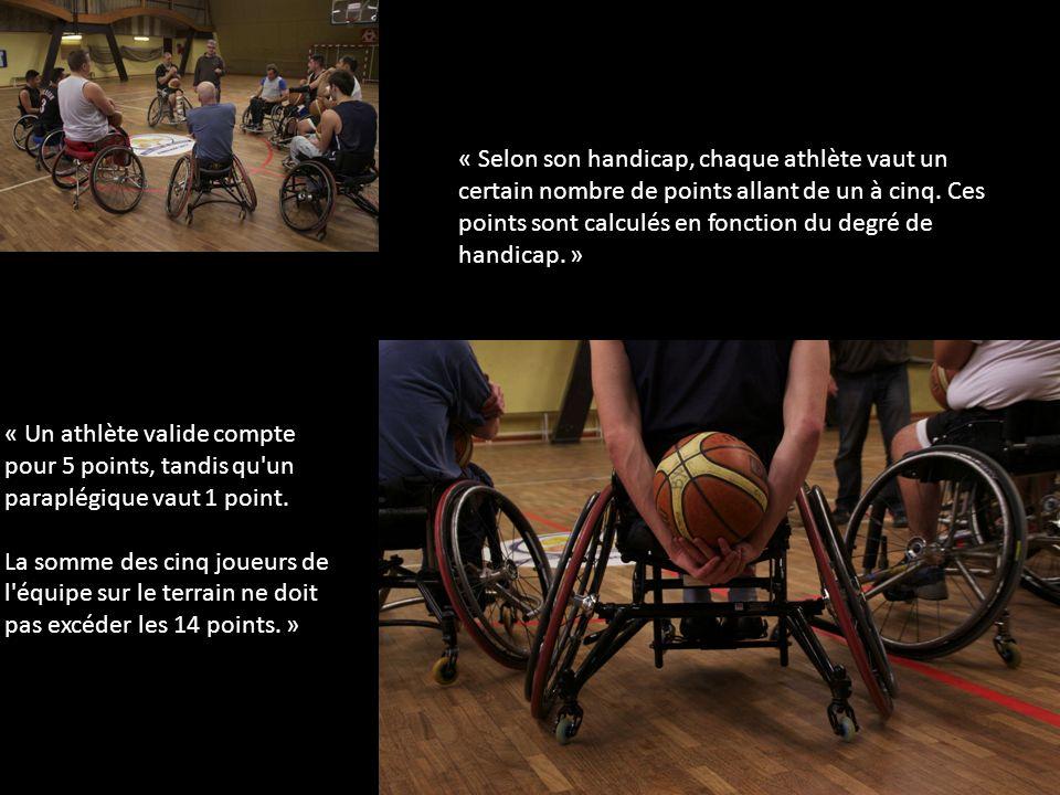 « Selon son handicap, chaque athlète vaut un certain nombre de points allant de un à cinq.