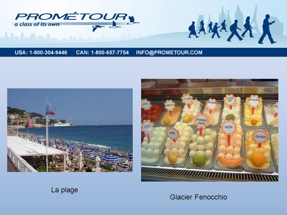Nice La plage Glacier Fenocchio