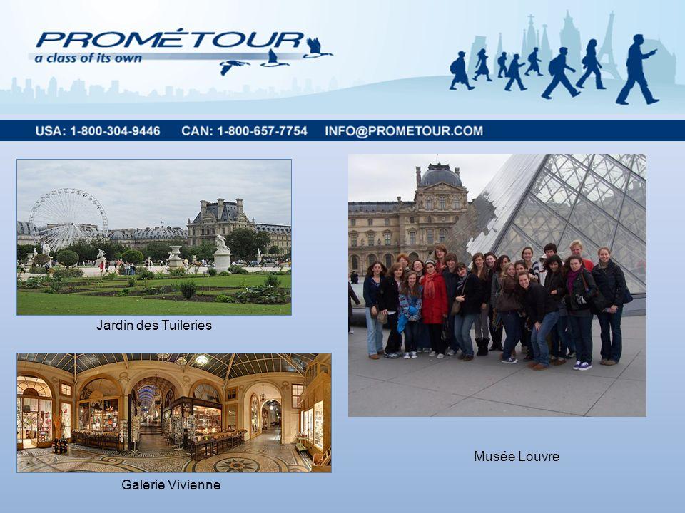 Musée Louvre Jardin des Tuileries Galerie Vivienne