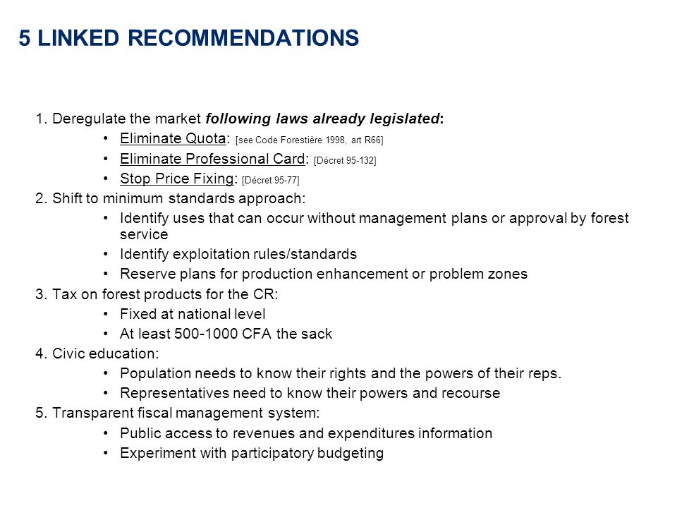 5 LINKED RECOMMENDATIONS 1.