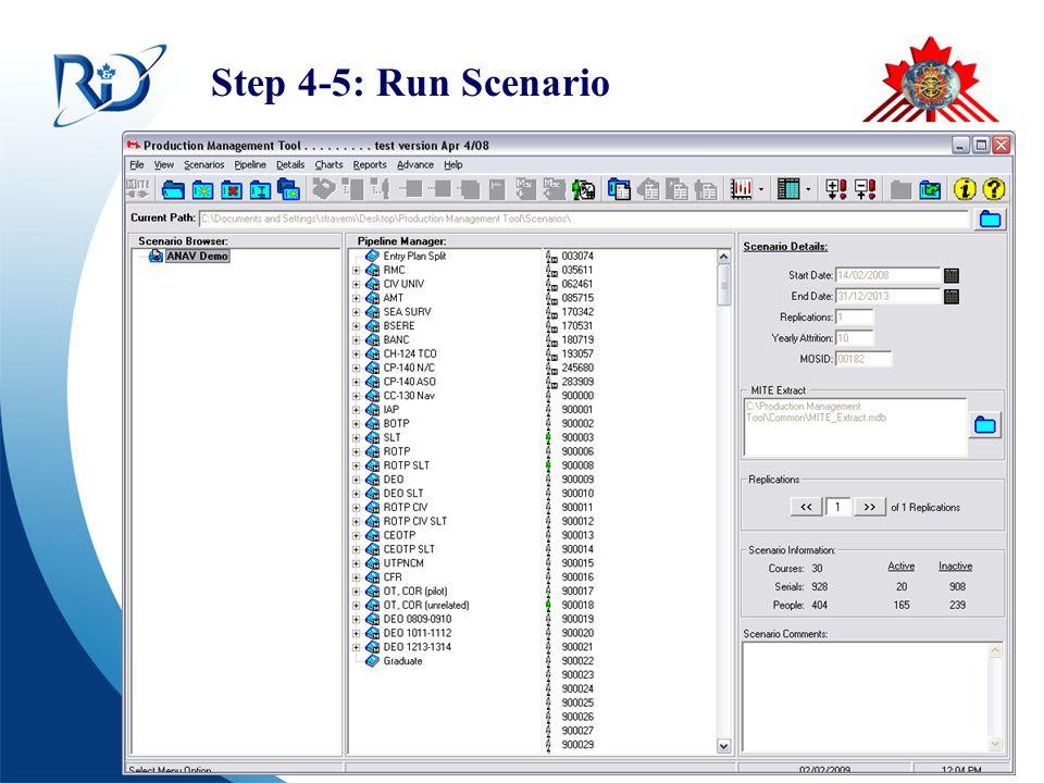 Defence R&D Canada – CORA R & D pour la défense Canada – CARO Step 4-5: Run Scenario