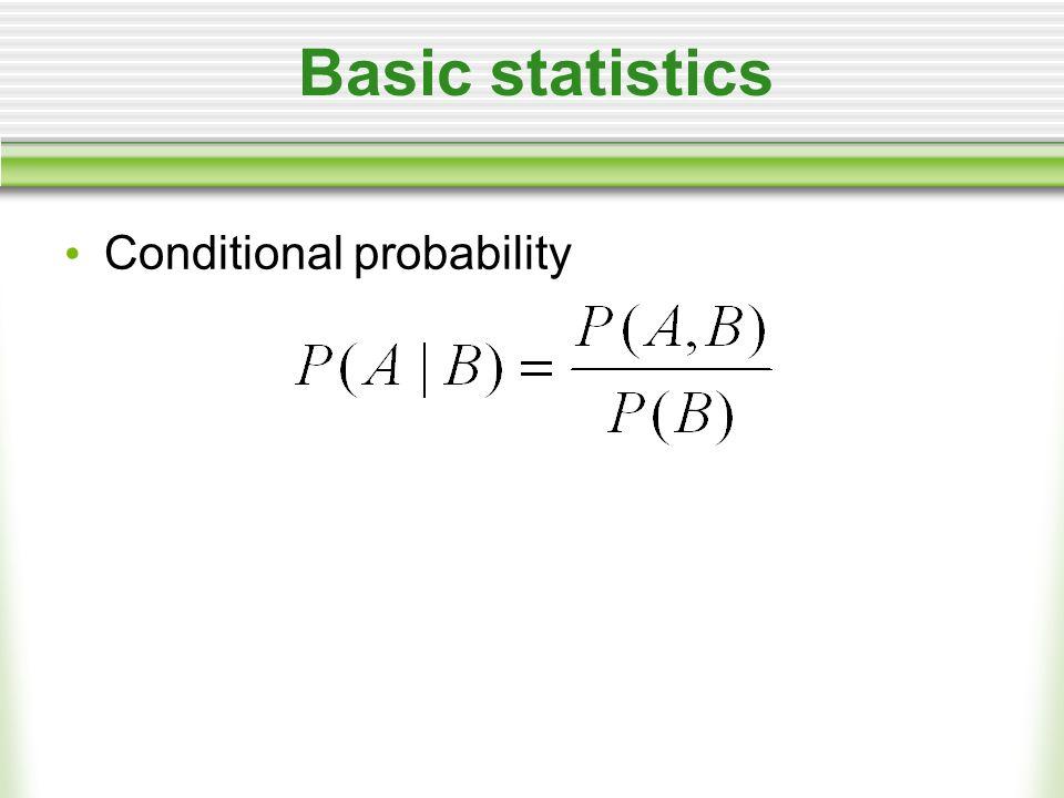 Basic statistics Conditional probability