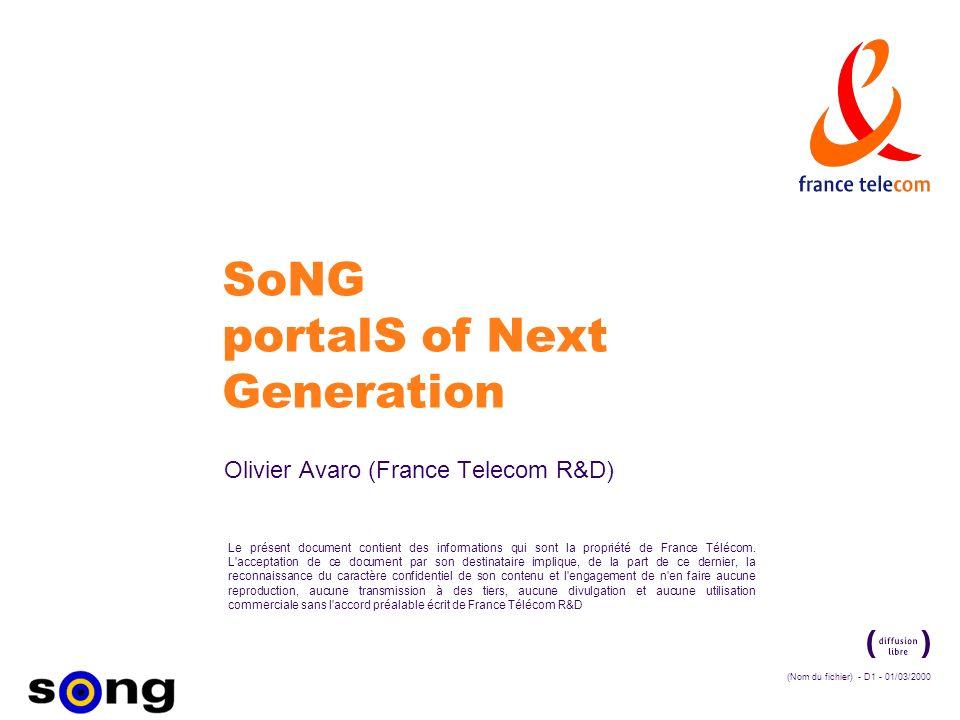(Nom du fichier) - D1 - 01/03/2000 Le présent document contient des informations qui sont la propriété de France Télécom.