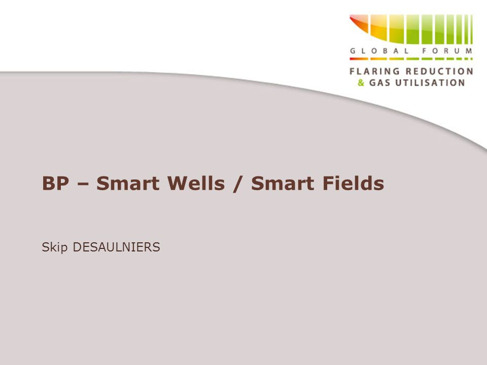 BP – Smart Wells / Smart Fields Skip DESAULNIERS