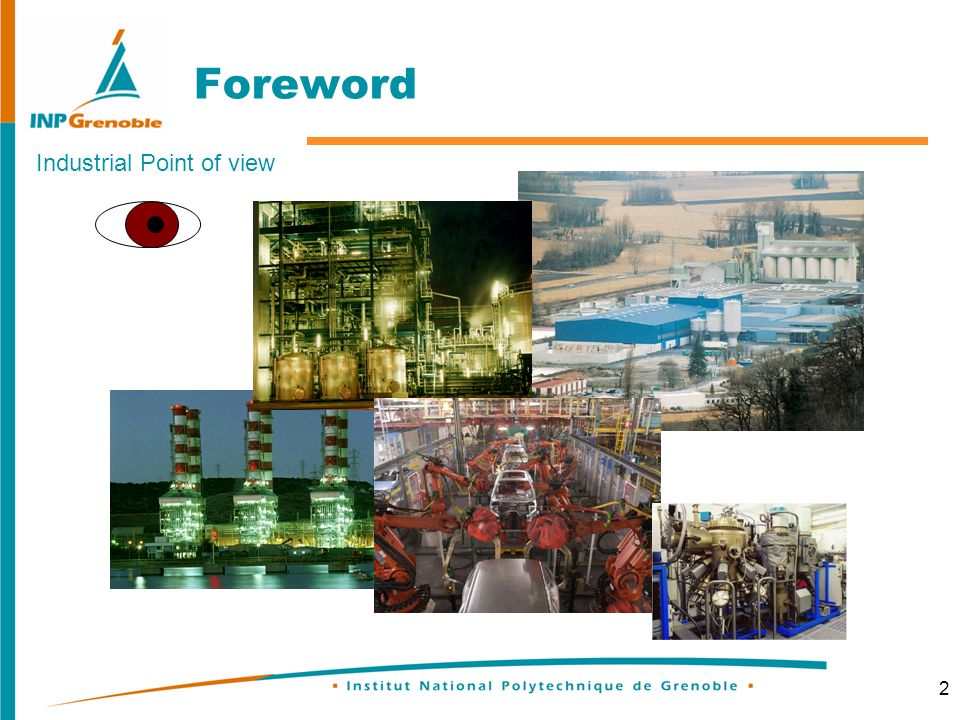 2 Foreword Industrial Point of view