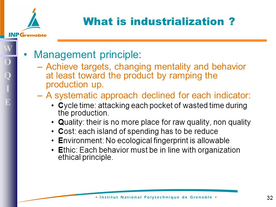 32 What is industrialization .