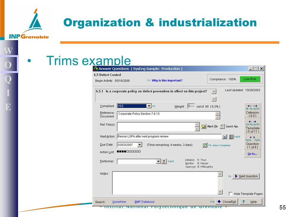 55 Trims example WOQIEWOQIE Organization & industrialization
