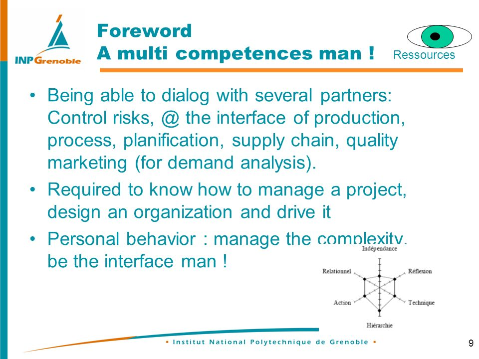 9 Foreword A multi competences man .