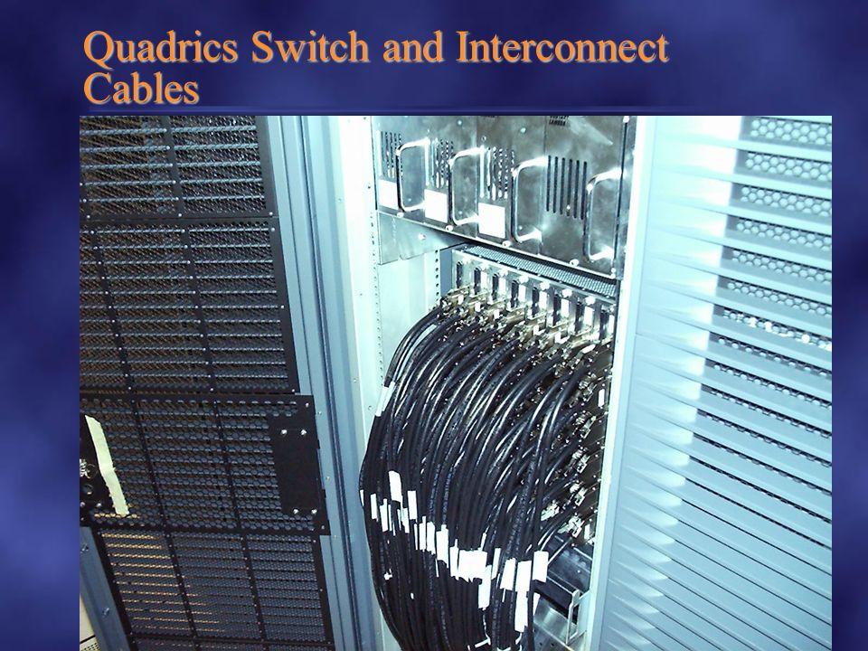 Compaq Confidentiel www.compaq.com HPTC Brest 18/10/2000 / G. de Jacquelot 55 Quadrics Switch and Interconnect Cables