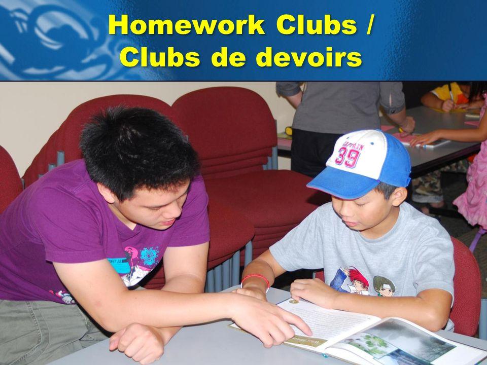 Homework Clubs / Clubs de devoirs