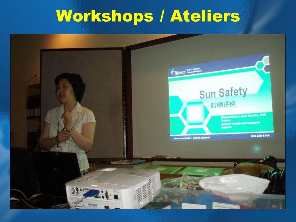 Workshops / Ateliers