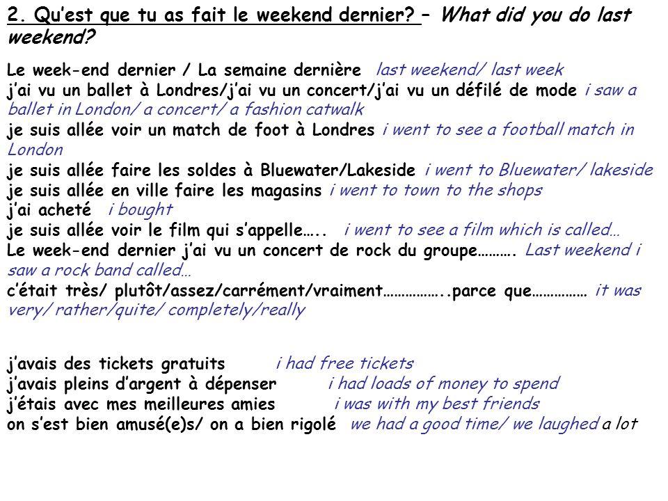 3.Quest ce que tu aimes comme style de musique?– What type of music do you like.