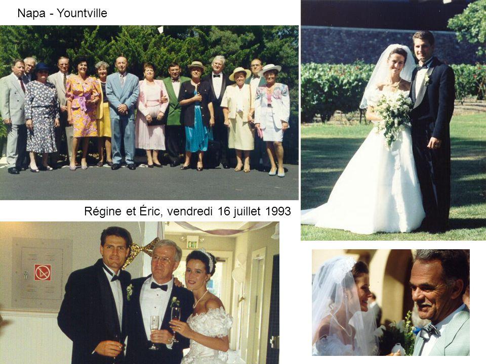 Napa - Yountville Régine et Éric, vendredi 16 juillet 1993