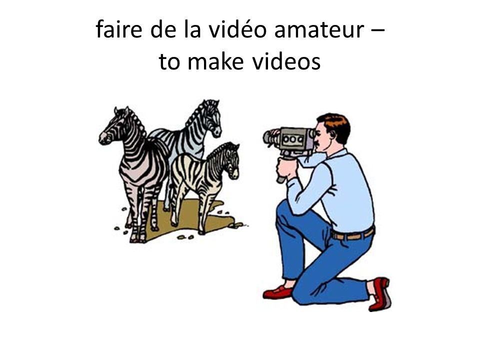 faire de la vidéo amateur – to make videos