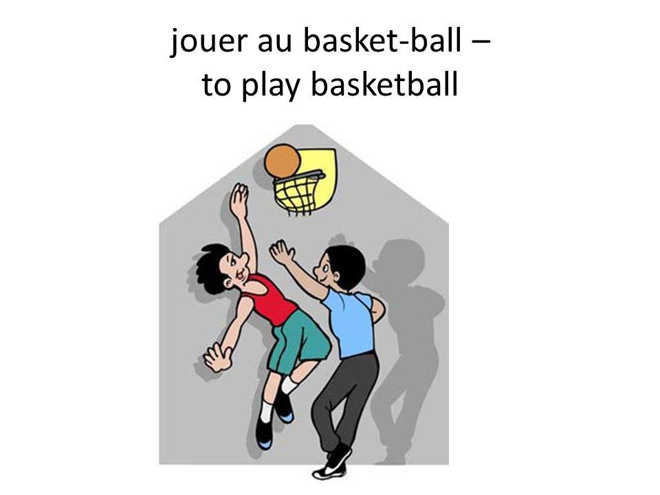 jouer au basket-ball – to play basketball
