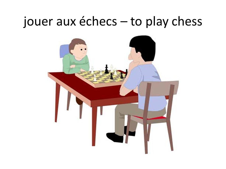 jouer aux échecs – to play chess