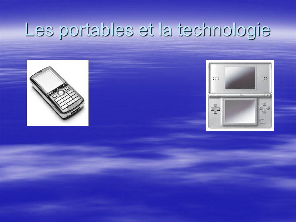 Les portables et la technologie