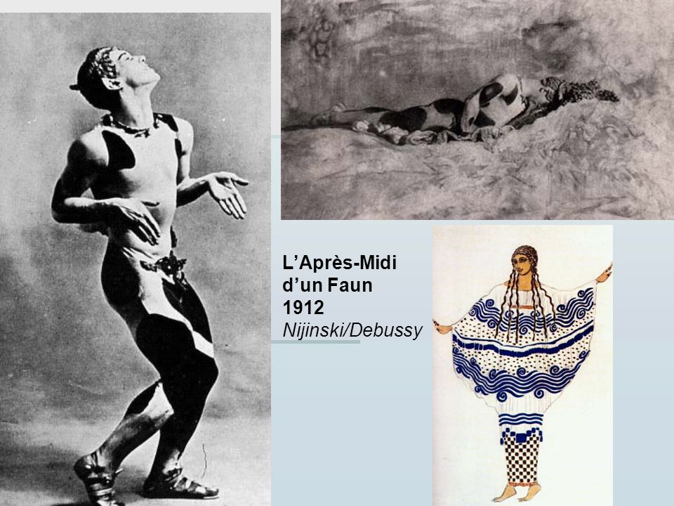 LAprès-Midi dun Faun 1912 Nijinski/Debussy
