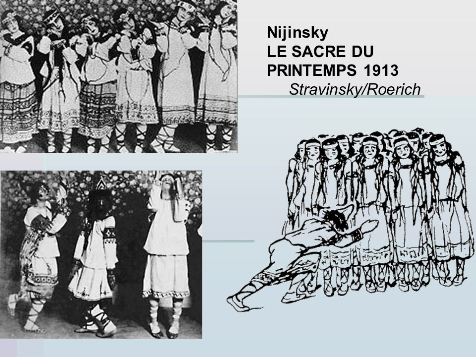 Nijinsky LE SACRE DU PRINTEMPS 1913 Stravinsky/Roerich