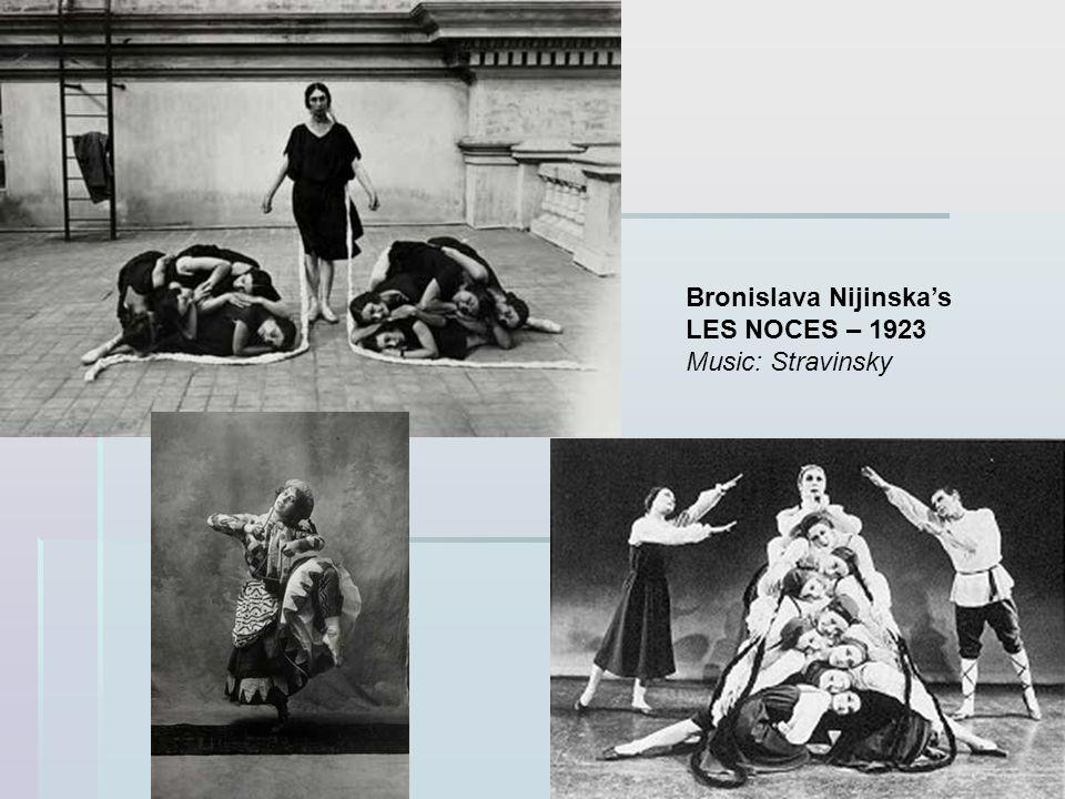 Bronislava Nijinskas LES NOCES – 1923 Music: Stravinsky