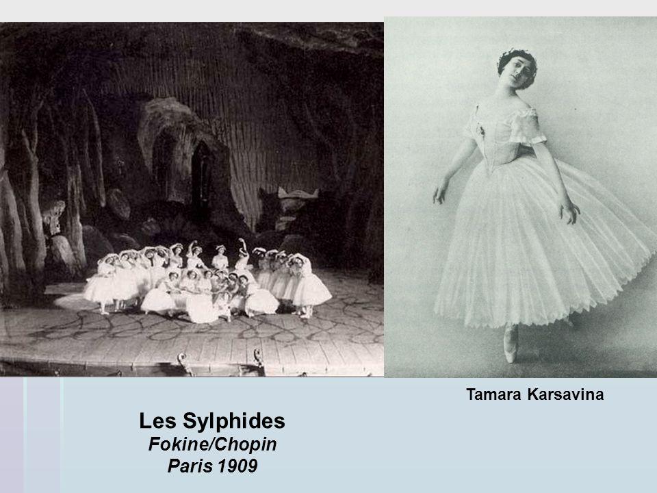 Les Sylphides Fokine/Chopin Paris 1909 Tamara Karsavina