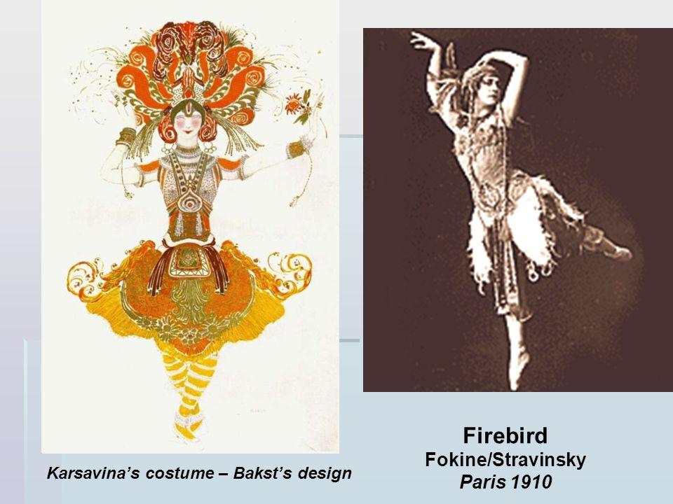 Firebird Fokine/Stravinsky Paris 1910 Karsavinas costume – Baksts design