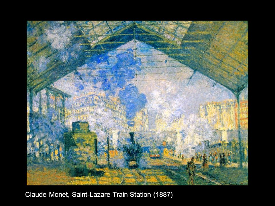 Claude Monet, Saint-Lazare Train Station (1887)
