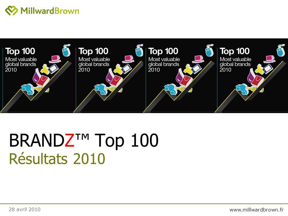 www.millwardbrown.fr BRANDZ Top 100 Résultats 2010 28 avril 2010