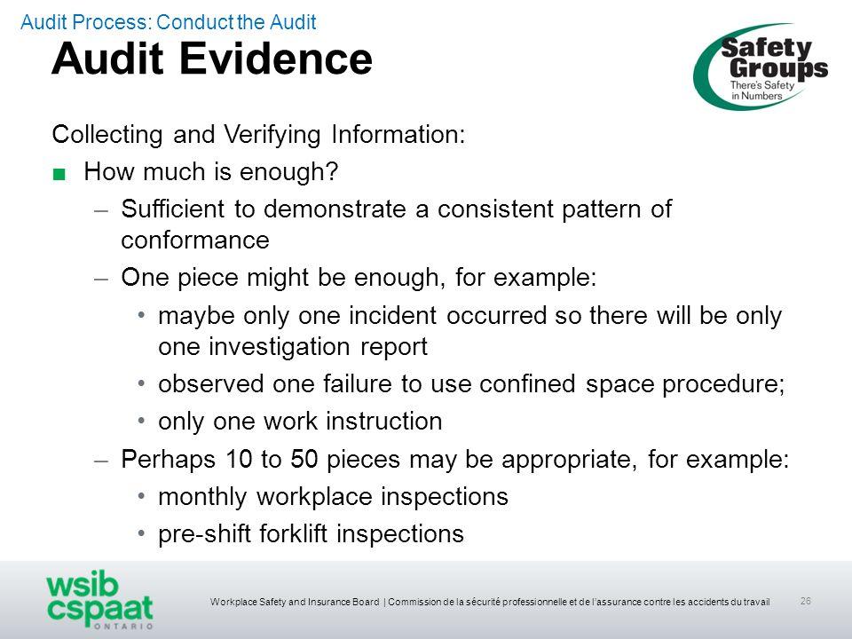 Workplace Safety and Insurance Board | Commission de la sécurité professionnelle et de lassurance contre les accidents du travail 26 Collecting and Ve