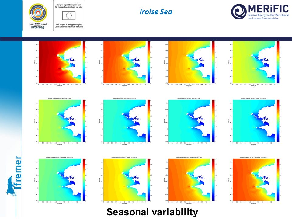 Seasonal variability Iroise Sea