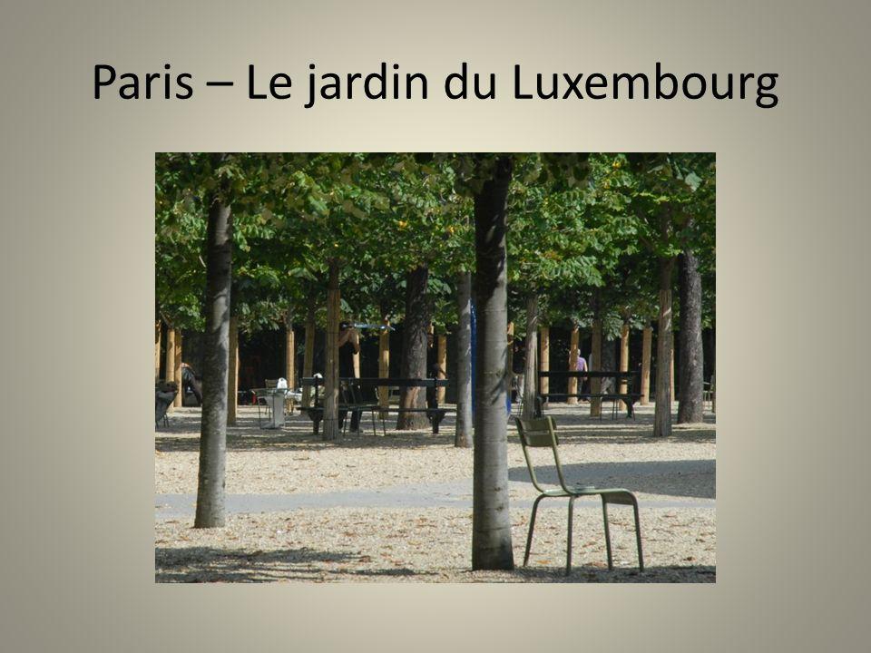 Paris – Le jardin du Luxembourg