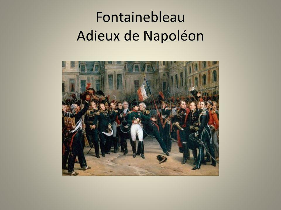 Fontainebleau Adieux de Napoléon
