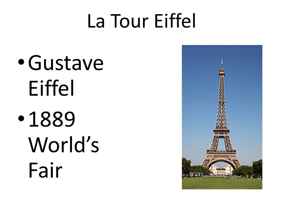 La Tour Eiffel Gustave Eiffel 1889 Worlds Fair