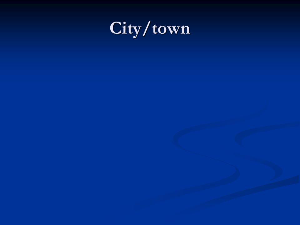 City/town