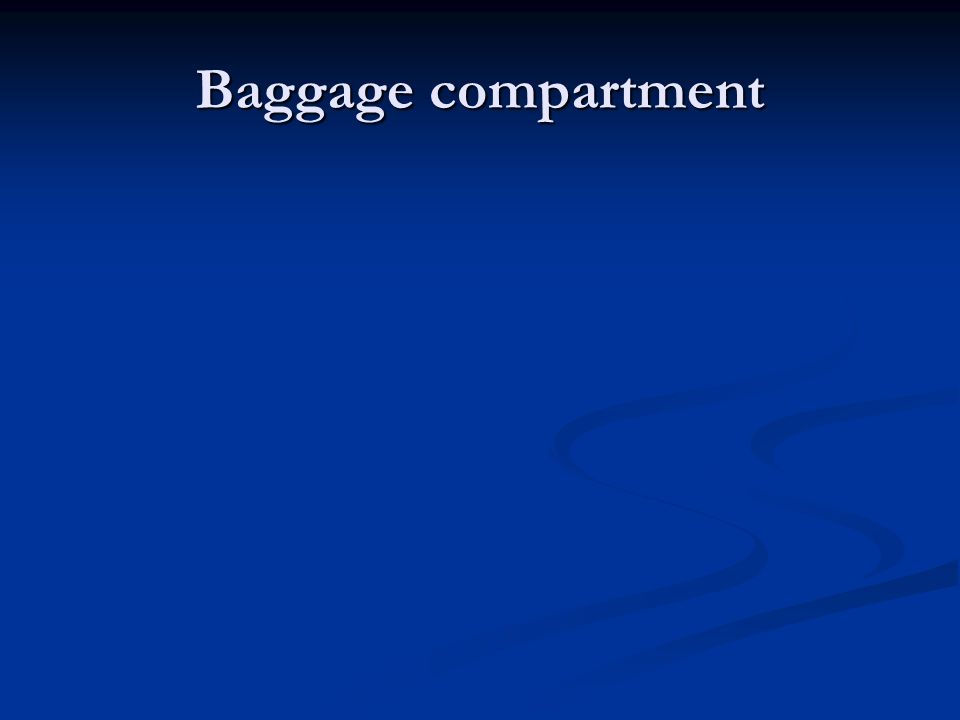 Baggage compartment