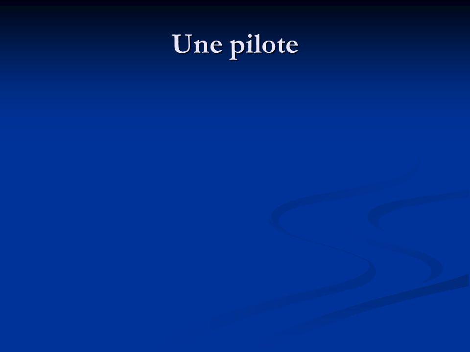Une pilote