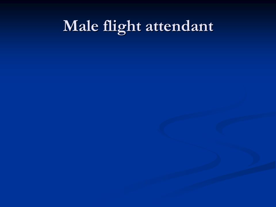 Male flight attendant