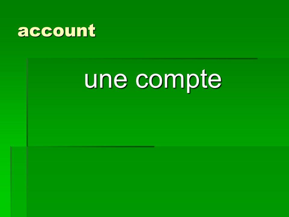 account une compte