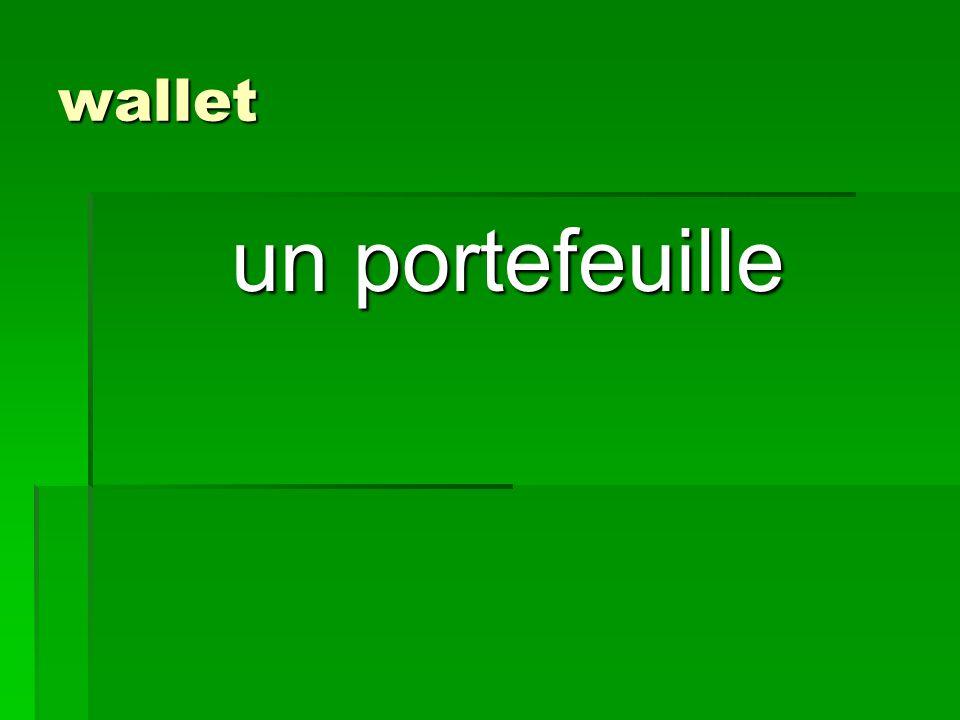 wallet un portefeuille