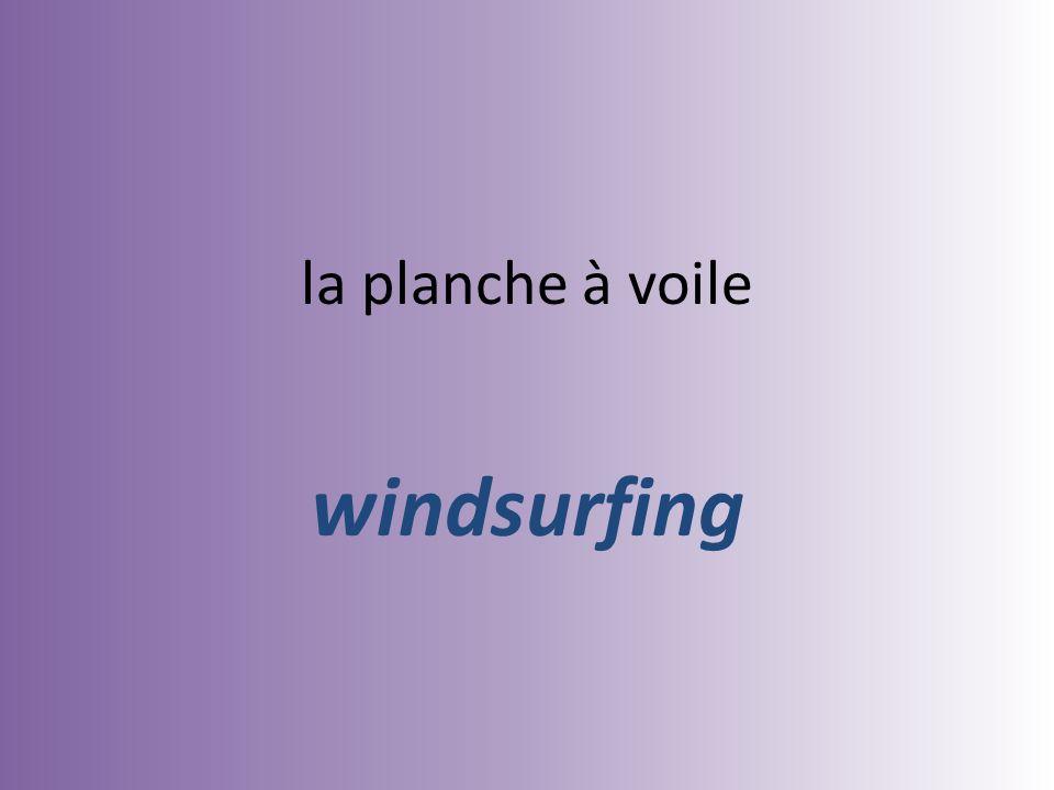 la planche à voile windsurfing