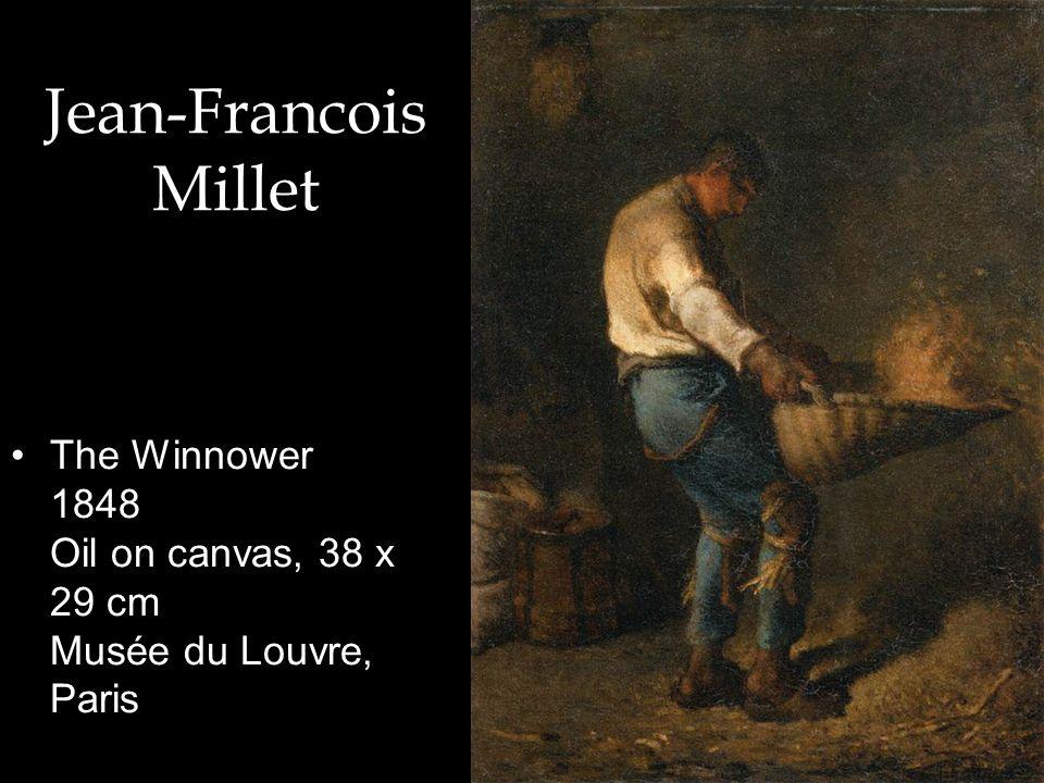 Jean-Francois Millet The Winnower 1848 Oil on canvas, 38 x 29 cm Musée du Louvre, Paris