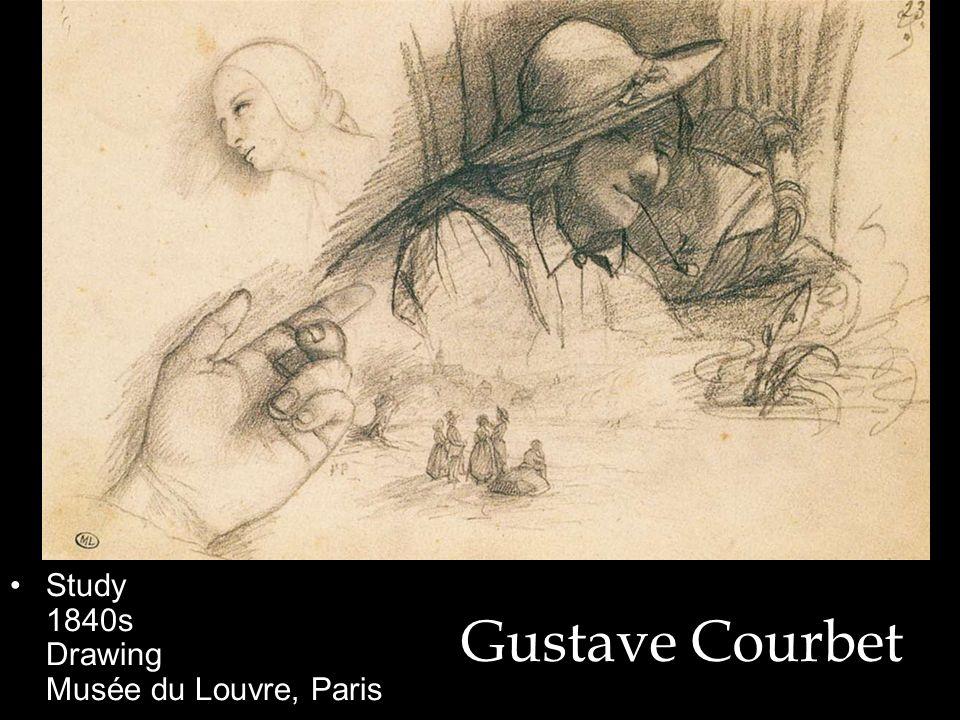 Gustave Courbet Study 1840s Drawing Musée du Louvre, Paris