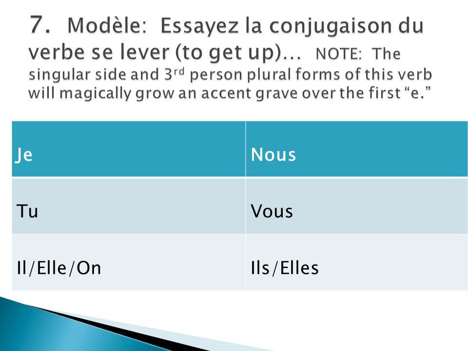the reflexive pronoun agrees with the subject. Par exemple – Demain, nous allons nous lever tôt.