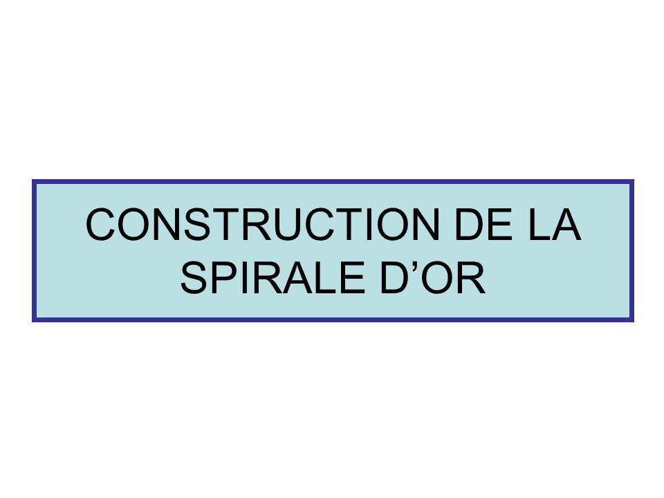 CONSTRUCTION DE LA SPIRALE DOR